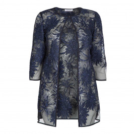 ELENA MIRO NAVY LACE LONG OCCASION JACKET - Plus Size Collection