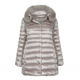 ELENA MIRO FUR TRIMMED PUFFA COAT - Plus Size Collection