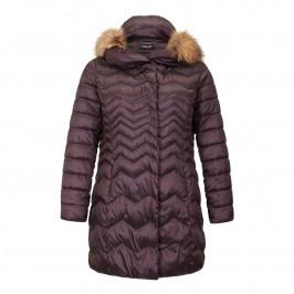 ELENA MIRO AUBERGINE Puffa Coat