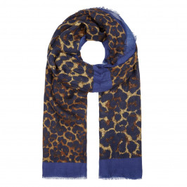 ELENA MIRO LEOPARD PRINT FRINGED SCARF - Plus Size Collection