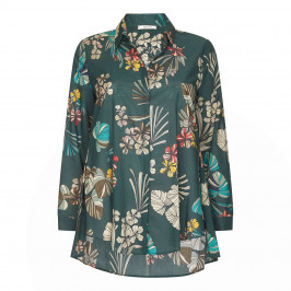 ELENA MIRO VOILE PRINTED SHIRT - Plus Size Collection