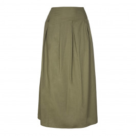 ELENA MIRO khaki asymmetrical waistband maxi SKIRT - Plus Size Collection