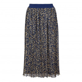 ELENA MIRO NAVY ANIMAL PRINT SKIRT - Plus Size Collection