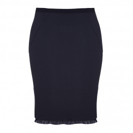 ELENA MIRO BLACK SKIRT WITH FLARE AND TULLE DETAIL - Plus Size Collection