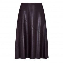 ELENA MIRO FAUX-LEATHER SKIRT CHOCOLATE - Plus Size Collection