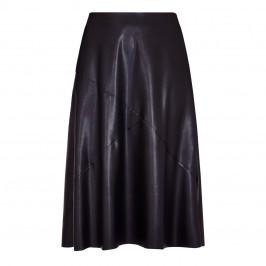 ELENA MIRO FAUX-LEATHER SKIRT BLACK - Plus Size Collection