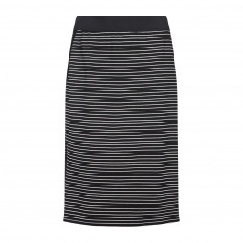 ELENA MIRO black stripe punto milano pencil SKIRT - Plus Size Collection