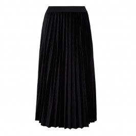 ELENA MIRO BLACK VELVET PLEATED SKIRT - Plus Size Collection