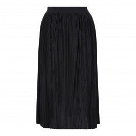 ELENA MIRO PLEATED LUREX BLACK SKIRT - Plus Size Collection