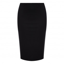 ELENA MIRO BLACK PUNTO MILANO JERSEY SKIRT - Plus Size Collection