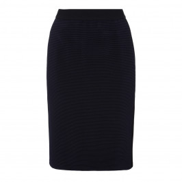 ELENA MIRO NAVY PULL ON PENCIL SKIRT WITH RIB DETAIL - Plus Size Collection