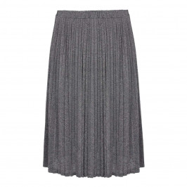 ELENA MIRO SILVER LUREX PLEAT SKIRT - Plus Size Collection