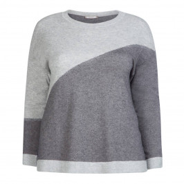 ELENA MIRO GREY SWEATER WITH CASHMERE - Plus Size Collection