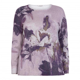 ELENA MIRO FLORAL SWEATER MAUVE - Plus Size Collection