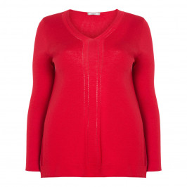 ELENA MIRO WOOL-BLEND SWEATER RED - Plus Size Collection