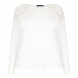 ELENA MIRO honeycomb shoulder SWEATER - Plus Size Collection