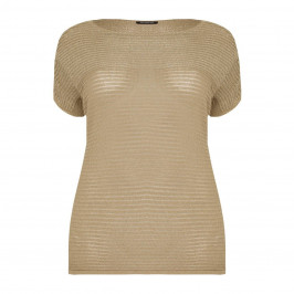 Elena Miro Sand & Gold loose knit SWEATER - Plus Size Collection