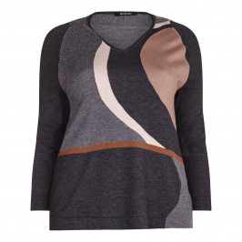 ELENA MIRO lurex intarsia SWEATER - Plus Size Collection
