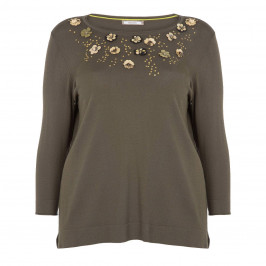 ELENA MIRO SEQUIN EMBELLISHED SWEATER - Plus Size Collection