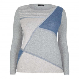 ELENA MIRO GEOMETRIC COLOUR BLOCK SWEATER - Plus Size Collection