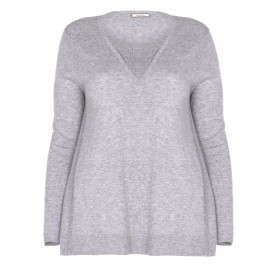 ELENA MIRO SWEATER WITH STUD EMBELLISHMENT GREY