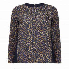 ELENA MIRO LEOPARD PRINT TOP  - Plus Size Collection