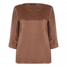 ELENA MIRO CINNAMON SILK SATIN TUNIC - Plus Size Collection