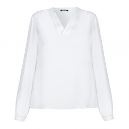 ELENA MIRO ivory crepe tunic TOP - Plus Size Collection