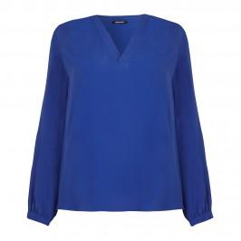 ELENA MIRO cobalt blue crepe tunic TOP