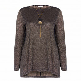 ELENA MIRO BRONZE LUREX TOP - Plus Size Collection