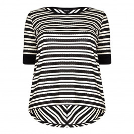 ELENA MIRO geometric stripe TOP - Plus Size Collection