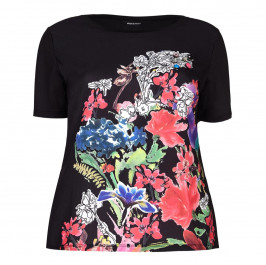 ELENA MIRO embellished floral TOP - Plus Size Collection