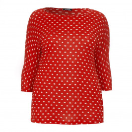 ELENA MIRO red jacquard jersey TOP - Plus Size Collection