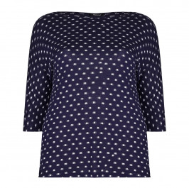 ELENA MIRO blue jacquard jersey TOP - Plus Size Collection