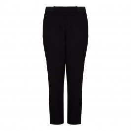 ELENA MIRO black piped TRACKSUIT TROUSERS - Plus Size Collection