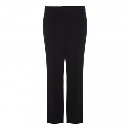 ELENA MIRO BLACK RELAXED BOOT CUT TROUSERS - Plus Size Collection