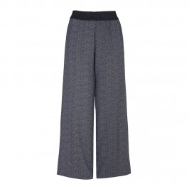 ELENA MIRO herringbone crepe wide-leg TROUSERS - Plus Size Collection
