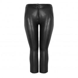 ELENA MIRO FAUX LEATHER ANKLE GRAZER TROUSER BLACK - Plus Size Collection