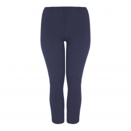 ELENA MIRO TECHNOSTRETCH FRONT-FASTEN TROUSER NAVY - Plus Size Collection