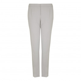 ELENA MIRO light grey crepe cady straight leg TROUSERS - Plus Size Collection