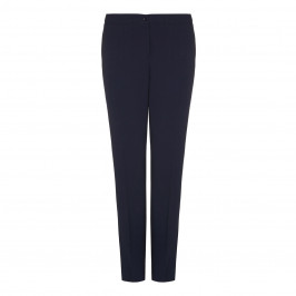 ELENA MIRO navy crepe cady straight leg TROUSERS - Plus Size Collection