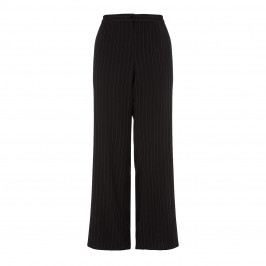 ELENA MIRO BLACK PALAZZO PINSTRIPE TROUSER - Plus Size Collection