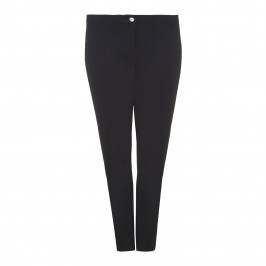 ELENA MIRO black slimline stretch TROUSERS - Plus Size Collection