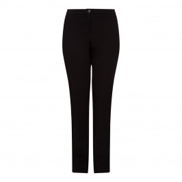 ELENA MIRO BLACK STRETCH JERSEY TROUSERS  - Plus Size Collection