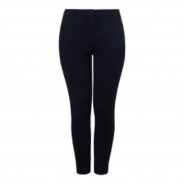 ELENA MIRO BLACK TROUSER WITH BEIGE SIDE STRIPE - Plus Size Collection