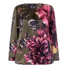 ELENA MIRO silk satin floral Tunic - Plus Size Collection