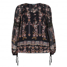ELENA MIRO PRINT TIE SLEEVE TUNIC - Plus Size Collection