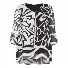 ELENA MIRO CONTRASTING MONOCHROME TUNIC - Plus Size Collection