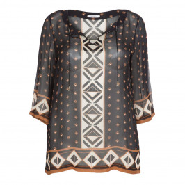 ELENA MIRO TILE PRINT TUNIC - Plus Size Collection