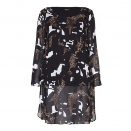 ELENA MIRO abstract leopard print Tunic